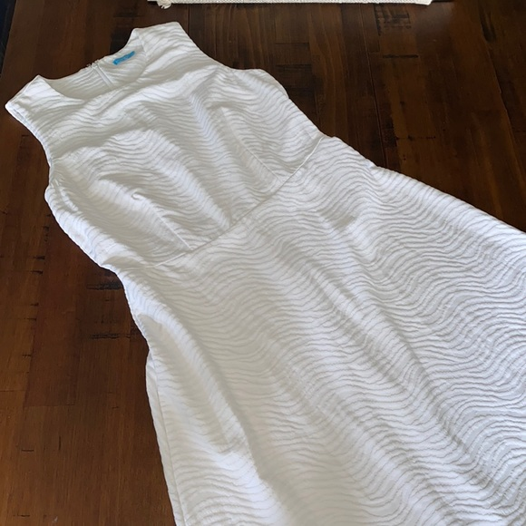 J. McLaughlin White Stretch Dress